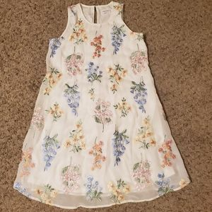 Calvin Klein Floral Embroidered Dress